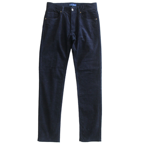 Corduroy Pants Mens Cord Jeans  Slim Fit Navy
