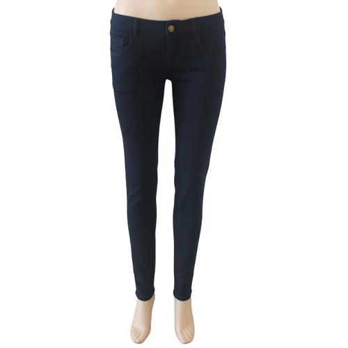 Skinny Jeans for Women Mid Rise Dark Blue