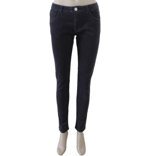 Corduroy Pants for Women Mid Rise Skinny