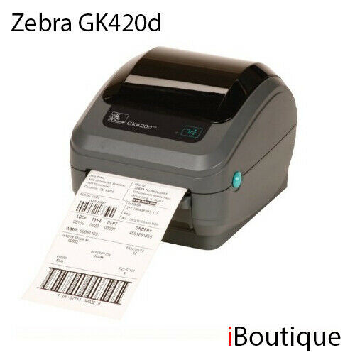 Zebra GK420d Advanced Desktop Printer Direct Thermal Printer (GK42-2025P0-000)