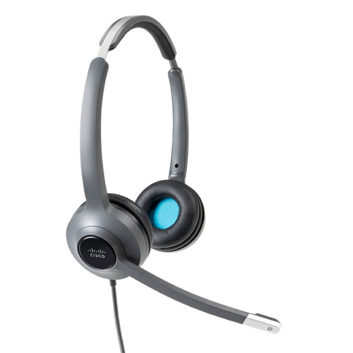 Cisco Headset 522 Wired Dual 3.5mm Connector and USB-C Adapter CP-HS-W-522-USBC