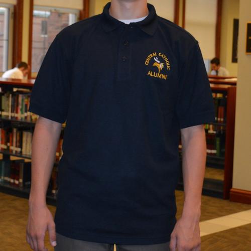 Navy Alumni Golf Shirt by Divots