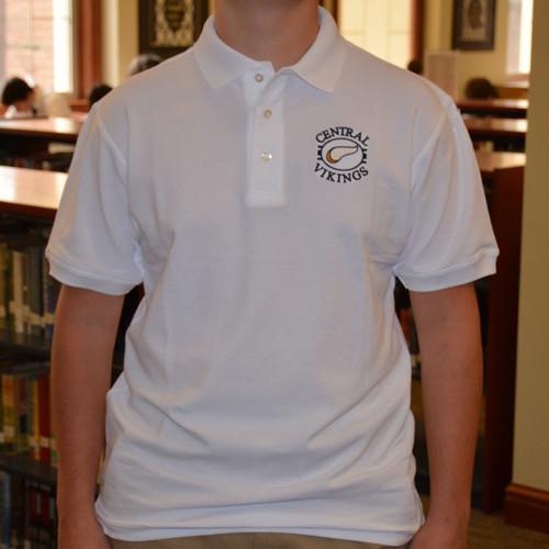Divots White Golf Shirt