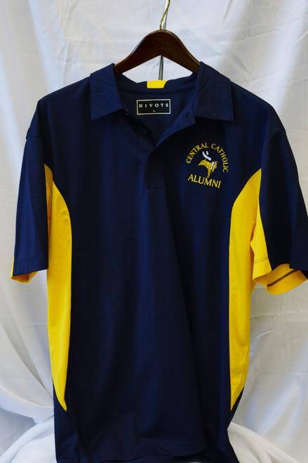 Navy and Gold Microfiber Alumni Golf shirt