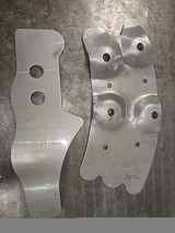 73-87 Steering Box Outer Reinforcement Plates