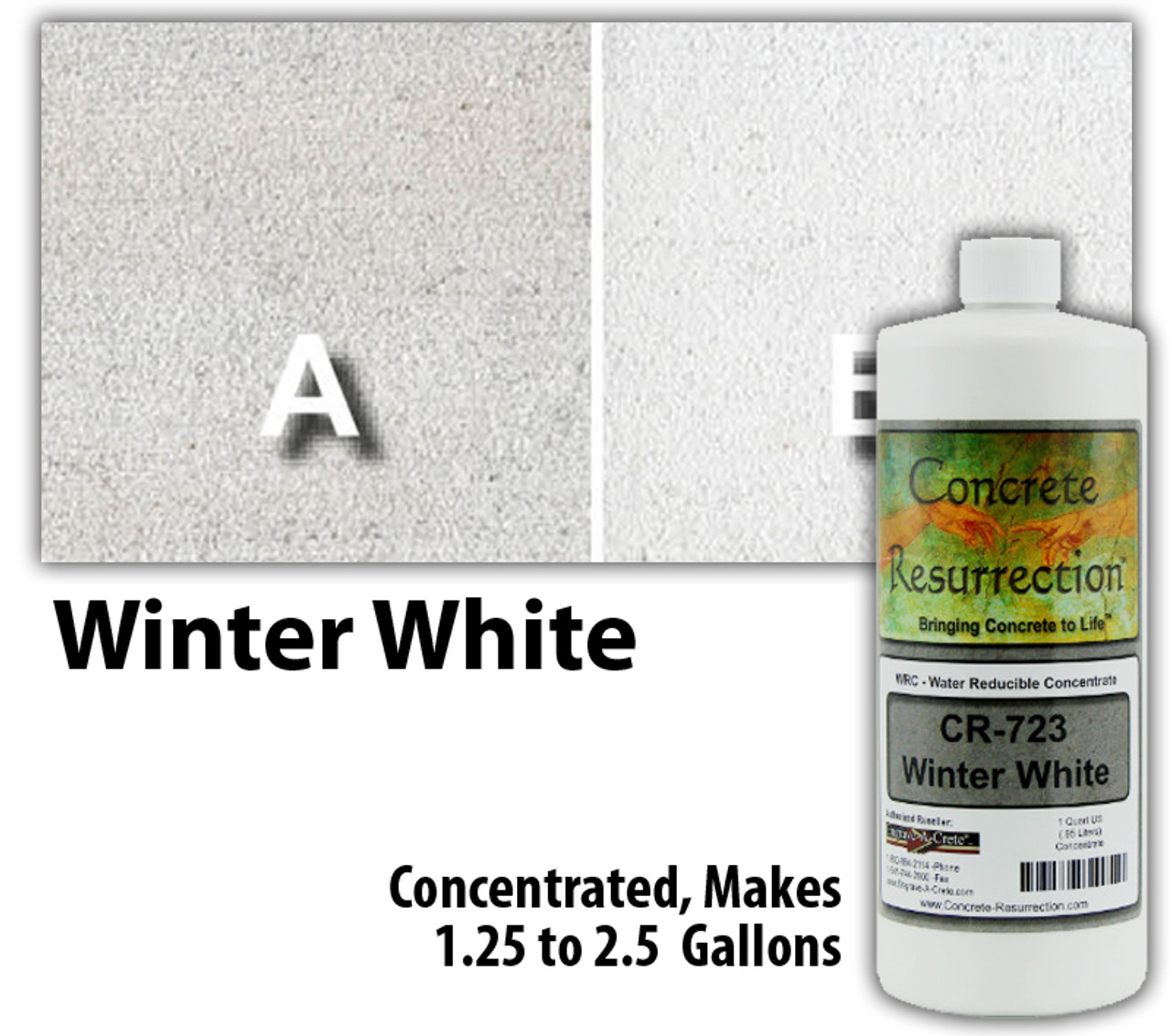 Water Reducible Concentrated (WRC) Concrete Stain - Winter White 32oz