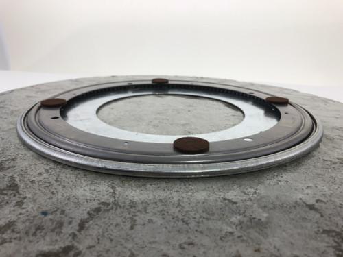 """Stone Textured Concrete Lazy Susan w/Chiseled Edges 18-1/4"""""""