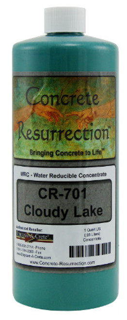 Water Reducible Concentrated (WRC) Concrete Stain - Cloudy Lake 32oz
