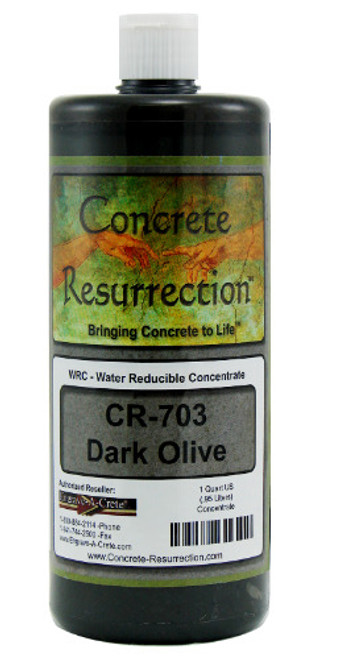 Water Reducible Concentrated (WRC) Concrete Stain - Dark Olive 32oz