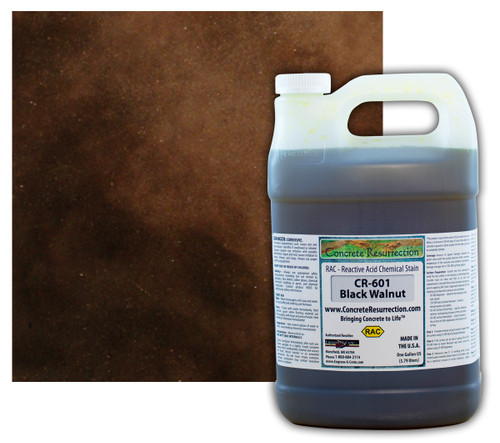 Reactive Acid Chemical (RAC) Concrete Stain - Black Walnut 1 Gal.