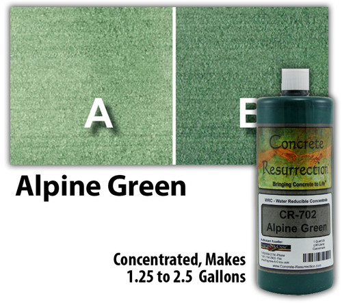 Water Reducible Concentrated (WRC) Concrete Stain - Alpine Green 32oz