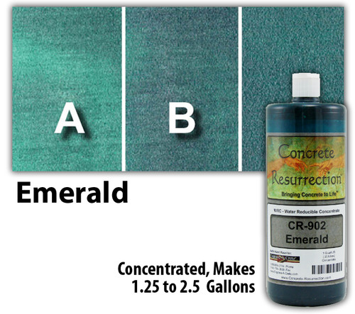 Water Reducible Concentrated (WRC) Concrete Stain - Emerald 32oz