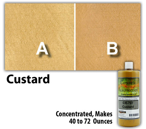 Water Reducible Concentrated (WRC) Concrete Stain - Custard 8oz