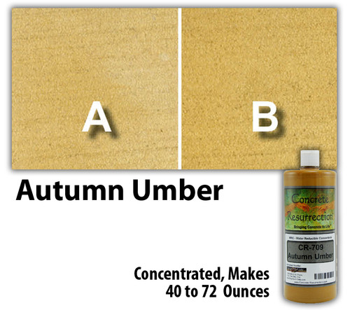 Water Reducible Concentrated (WRC) Concrete Stain - Autumn Umber 8oz