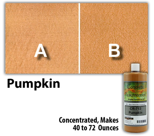 Water Reducible Concentrated (WRC) Concrete Stain - Pumpkin 8oz