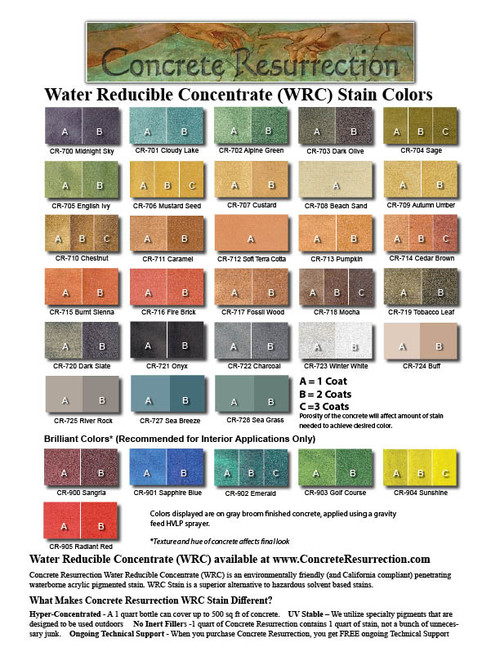 Water Reducible Concentrated (WRC) Concrete Stain - Buff 32oz
