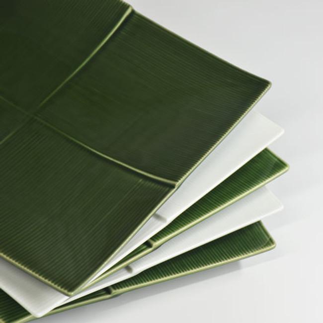 Assiette carrée japonaise bambou vaisselle japonaise