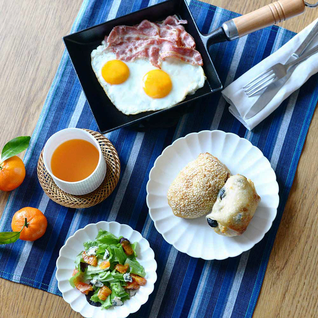 Table avec Set de table Matsusaka Momen tissu japonais