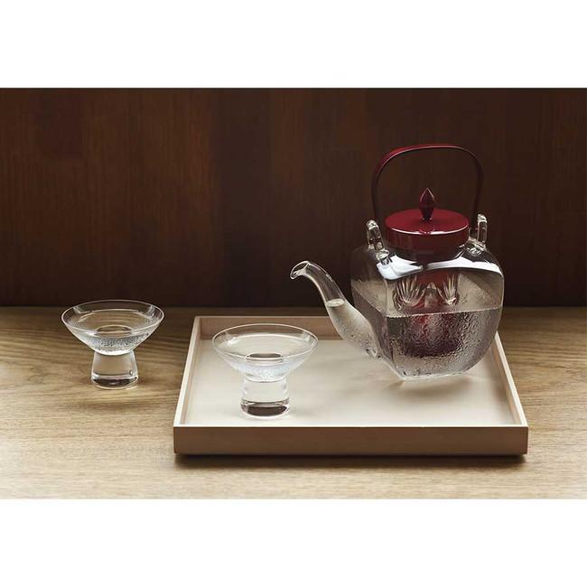 """Set de service à Saké """"Edo Kiriko"""" Hirota Glass"""