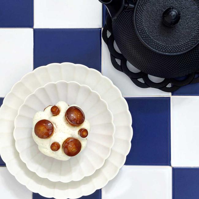 Vaisselle japonaise | Petite assiette japonaise en porcelaine en forme de chrysanthème Jicon