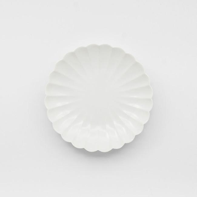 Grande assiette japonaise en porcelaine en forme de chrysanthème