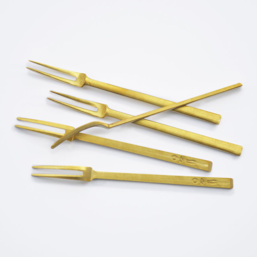Petite fourchette japonaise en laiton