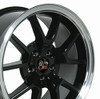 "18"" Fits Ford® Mustang® GT4 FR500 Wheels Black Set of 4 18x9"" Rims"