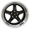 """17"""" Fits Ford®  Mustang® Cobra R 5 Lug Wheels Black 17x10.5"""" Rims"""