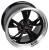 """17"""" Fits Ford® Mustang® Bullitt Wheels Black with a Fine Machined Lip Set of 4 17x8"""" Rims"""