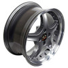 "17"" Fits Ford® Mustang® Cobra R 4 Lug Wheels Anthracite with a Fine Machined Lip with Rivets Set of 4 17x8"" Rims"