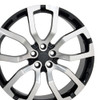 "22"" Fits Land Range Rover Wheels Black with Machined Face Set of 4 22x10"" Rims"