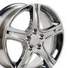 "17""' Fits Lexus IS Toyota Camry Chrome Wheels Set of 4 17x7"" Rims"