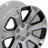"20"" GMC Denali Style Wheels Yukon Sierra Cadillac Fits Chevrolet Escalade Chevy Tahoe Silverado Chrome with Black Inserts Set of 4 20x8.5"" Rims"