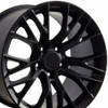 "17""/18"" Fits Corvette C7 Satin Black Z06 Style Staggered Wheels Set of 4 17x9.5"" 18x10.5"" Rims"