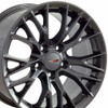 "17"" Fits Corvette C7 Gunmetal Z06 Style Wheels Set of 4 17x9.5"" Rims"