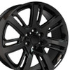"22"" Cadillac Escalade Premium Style GMC 2015 Gloss Black Wheels Set of 4 22x9"" Hollander 4738 Rims"
