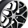 "22"" 2015 CK156 Chevy Silverado GMC Sierra 1500 Cadillac Machined Black Wheels Set of 4 22x9"" Rims"
