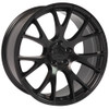 "Hellcat Style 22"" Satin Black Dodge Ram Wheels Dakota Durango Chrysler Set of 4 22x10"" Rims"