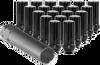 Black Spline Style Truck Lug Nuts - Set - Dodge Chevy Ford GMC - Complete Set of 24 w/ socket