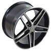 "17"" Fits Camaro Corvette C6 Z06 Wheel Black Machined Face 17x9.5"" Rim OE Spec"