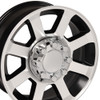 "20"" Fits Ford® F250-F350 Wheels Satin Black Machined Face Set of 4 20x8"" Rims"