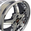 """17"""" Fits Ford® Mustang® Cobra R 4 Lug Wheels with Rivets Chrome Set of 4 17x8"""" Rims"""