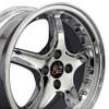 "17"" Fits Ford® Mustang® Cobra R 4 Lug Wheel with Rivets Chrome 17x8"" Rim"