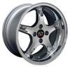 """17"""" Fits Ford Mustang® Cobra R 4 Lug Deep Dish Wheel Chrome 17x9"""" Rim"""