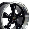 "17"" Fits Ford Mustang® Bullitt Wheel Black with a Fine Machined Lip 17x10.5"""