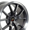 """18"""" Fits Ford® Mustang® GT4 FR500 Wheels Anthracite Set of 4 18x9"""" Rims"""