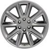 "20"" Fits GMC Denali Style Wheels Chevy Tahoe Cadillac Silverado Sierra Yukon Hyper Black w/Chrome Inserts Set of 4 20x8.5"" Rims Hollander # 5696"