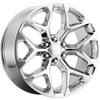 "24"" 2015 CK156 CK 156 Chevy Silverado GMC Sierra 1500 Cadillac Chrome Wheels Set of 4 24x10"" Rims"