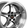 """17"""" Fits Ford®  Mustang® Cobra R 5 Lug Wheels Gunmetal 17x10.5"""" Rims"""