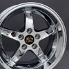 """17'' Fits Ford®  Mustang® Cobra R 5 Lug Wheels Chrome 17x10.5"""" Rims"""